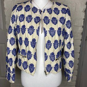 J. Crew Embroidered Jacket